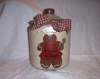 Gingerbread cookie jar PERSONALIZED FREE!!