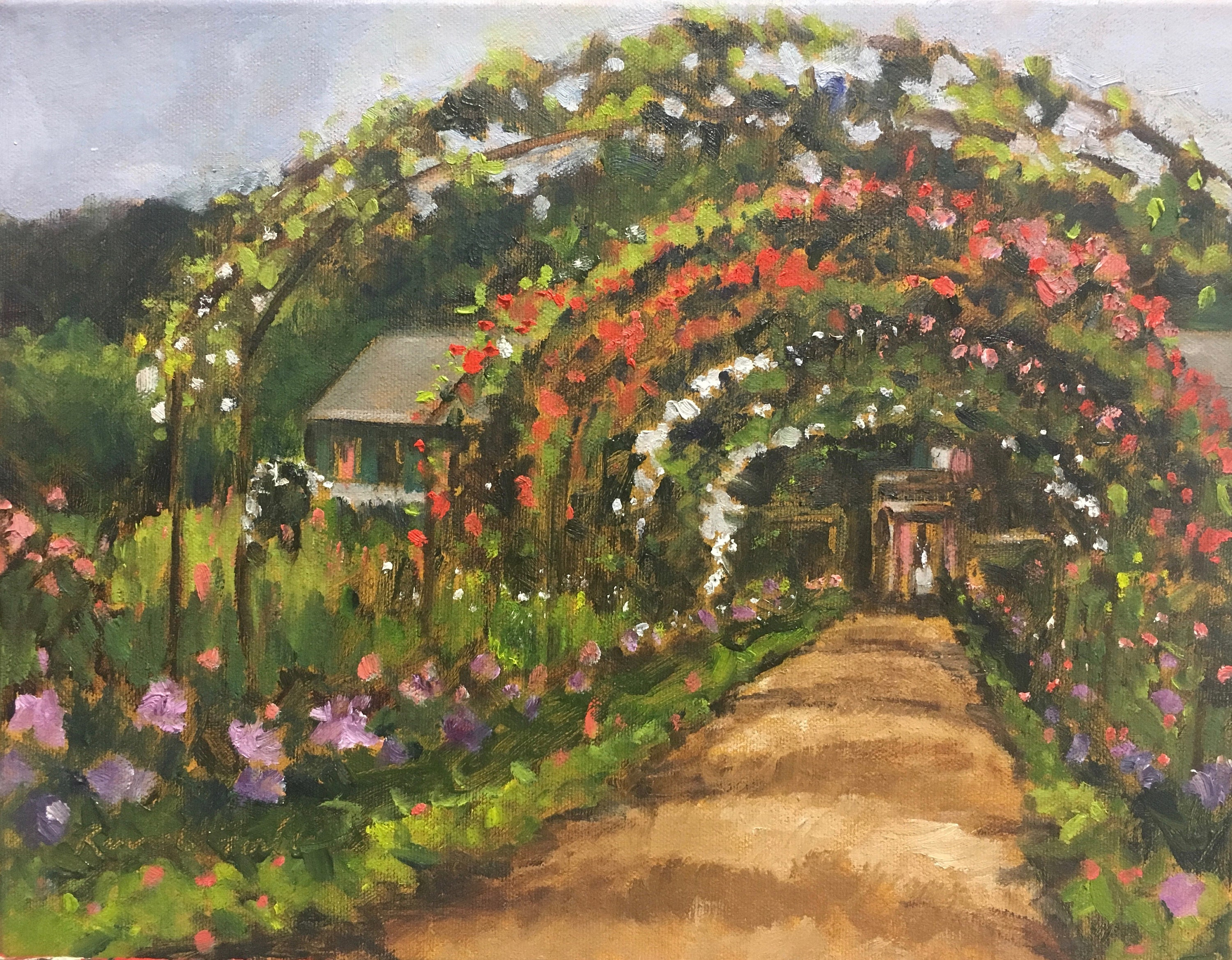 Monet\'s Garden Original Oil on Canvas Small Painting   Etsy