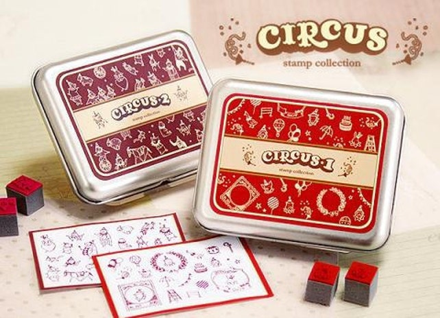 2 Sets of DIY Rubber Stamps -Circus