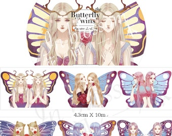 1 Roll of Limited Edition Washi Tape: The Butterfly Twins