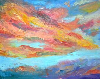 An Original Oil Landscape Painting: Storm