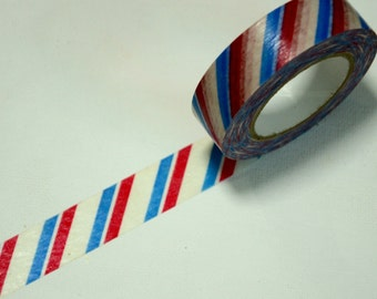 1 Roll Japanese Washi Tape Roll- Air Mail Stripes