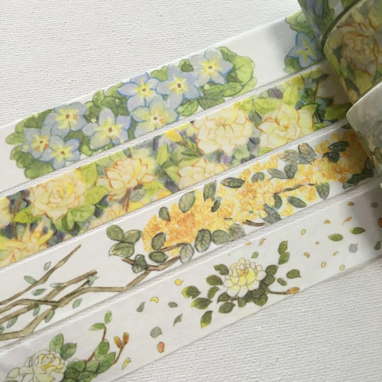 4 rouleaux de ruban adhésif adhésif ruban édition limitée: fleur de fleurs 266e58