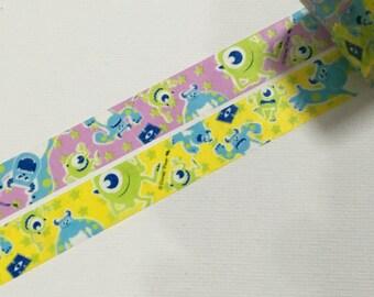 2 Rolls of Japanese Disney Washi Masking Tape:  Monster University