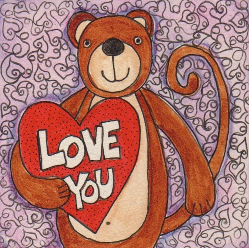 Monkey Love Valentines Day gift for boyfriend gift for image 0