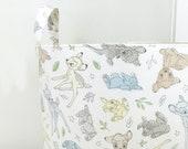 Bambi Fabric Storage Laundry Hamper, Toy Nursery Fabric Organizer Bin, Bambi & Thumper Best of Friends Basket, Choose Size