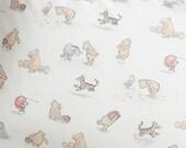 Winnie the Pooh Fabric Storage Laundry Hamper, Toy Nursery Fabric Organizer, Classic Winnie the Pooh Illustrations