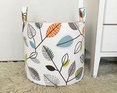 Fiesta Laundry Hamper, Canvas Fabric Storage Basket, Covington Carson Fabric, Toy Nursery Organizer, Storage Bucket