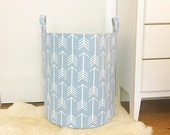 Cashmere Arrow Fabric Storage Laundry Hamper, Canvas Basket, Multiple Colors, Toy Nursery Organizer, Storage Hamper - Choose Size