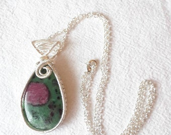 Natural Ruby in Fuchsite