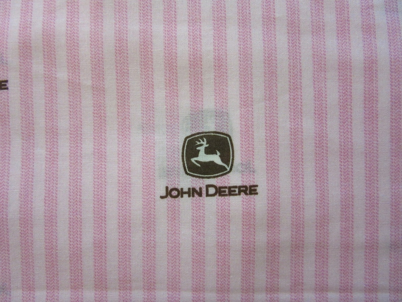 baby girl pink john deere rag quilt using jd ticking like etsy etsy