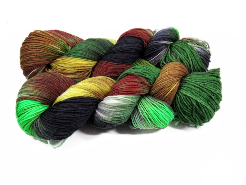 Sock yarn Merino High Twist 4x 100 gr No. 879 image 0