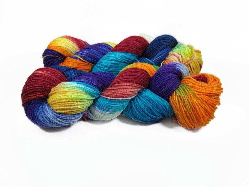 Sock yarn Merino High Twist 4x 100 gr No. 906 image 0