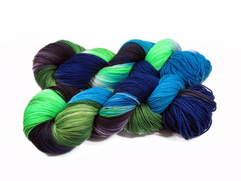 Sock yarn Merino High Twist 4x 100 gr No. 880 image 0