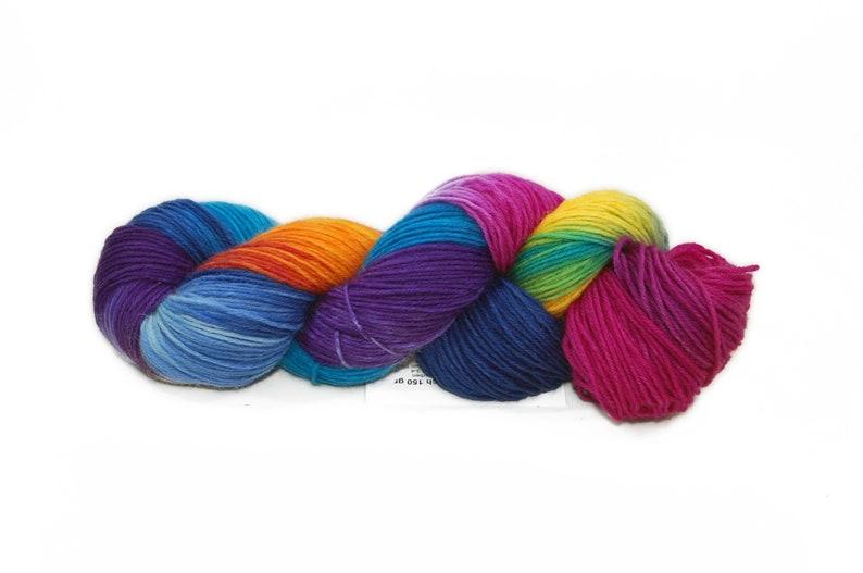 9.33 Euro/100 gr  150 gr Sock wool 6x853 image 0
