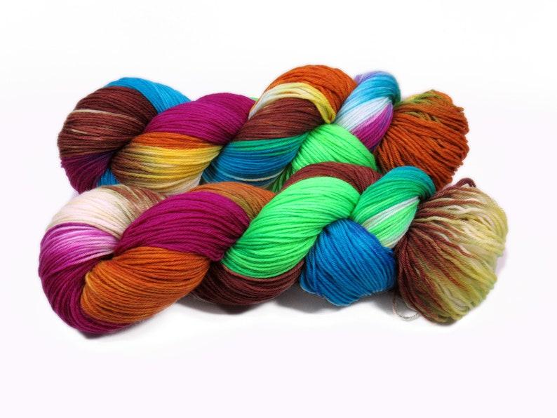 Sock yarn Merino High Twist 4x 100 gr No. 885 image 0