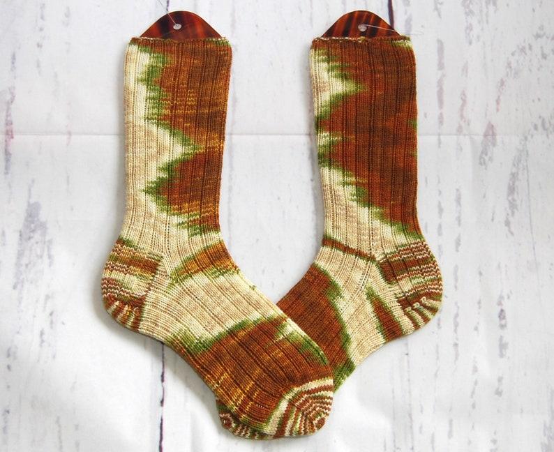 Hand knitted socks in Merino High Twist 38/39 image 0