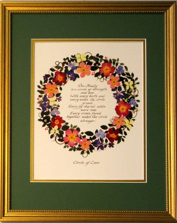 Family Circlecircle Of Love Family Gift Housewarming Gift Etsy