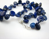 lapis lazuli small nuggets necklace