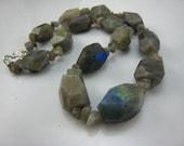 Labradorite Nuggets Necklace
