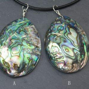 chunky paua shell necklace rainbow abalone shell pendant sea shell jewelry purple abalone shell jewelry oval shell statement jewelry