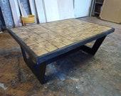 Sliced beam coffee table