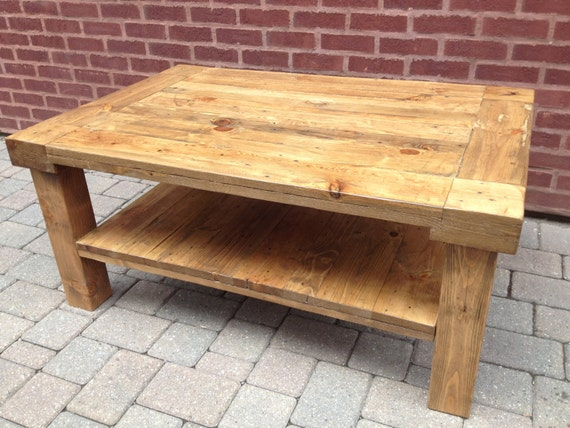 Reclaimed Pallet Wood Coffee Table Etsy