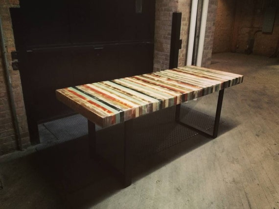 Butcher Block Dining Table Etsy