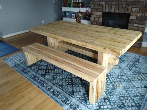 récupération banc avec table assorti manger bois à en de CderBxoW