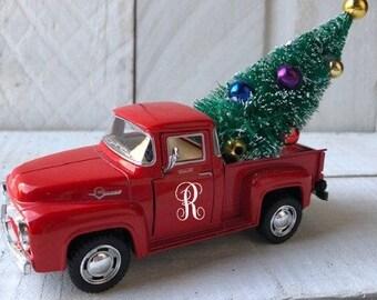Little Red Truck Christmas Little Red Truck Flatback Little Red Truck Planar Christmas Planar Red Truck Embellishment Red Truck Resin