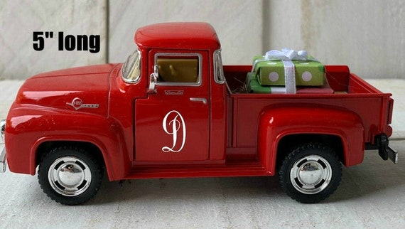 Vintage Red Pickup Truck Red Truck Decor Metal Farm Truck Etsy