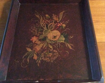 Handpainted Wooden Serving Tray