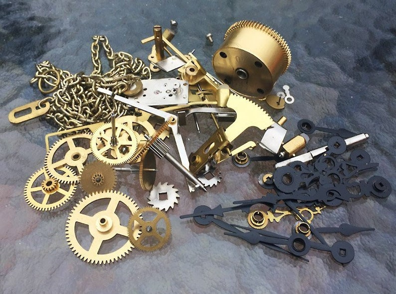 Steampunk Brass Clock Gears, Hands, Arbors, Chain Parts Kit For Dragon  Class PCA2019-FREE US Shipping!