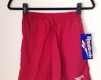 42d2a6677623 Deadstock Reebok Burgundy Athletic Shorts Boys Size XL