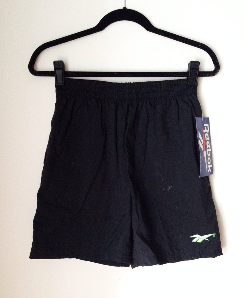 Deadstock Reebok Black And Lime Athletic Shorts Boys Size XL image 0
