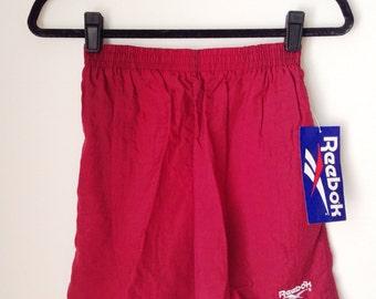 Deadstock Reebok Burgundy Athletic Shorts Boys Size XL
