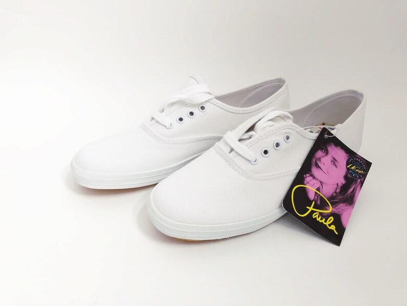 27243d1a8a481 vintage LA gear canvas sneakers paula abdul womens size 6 deadstock NIB 1992