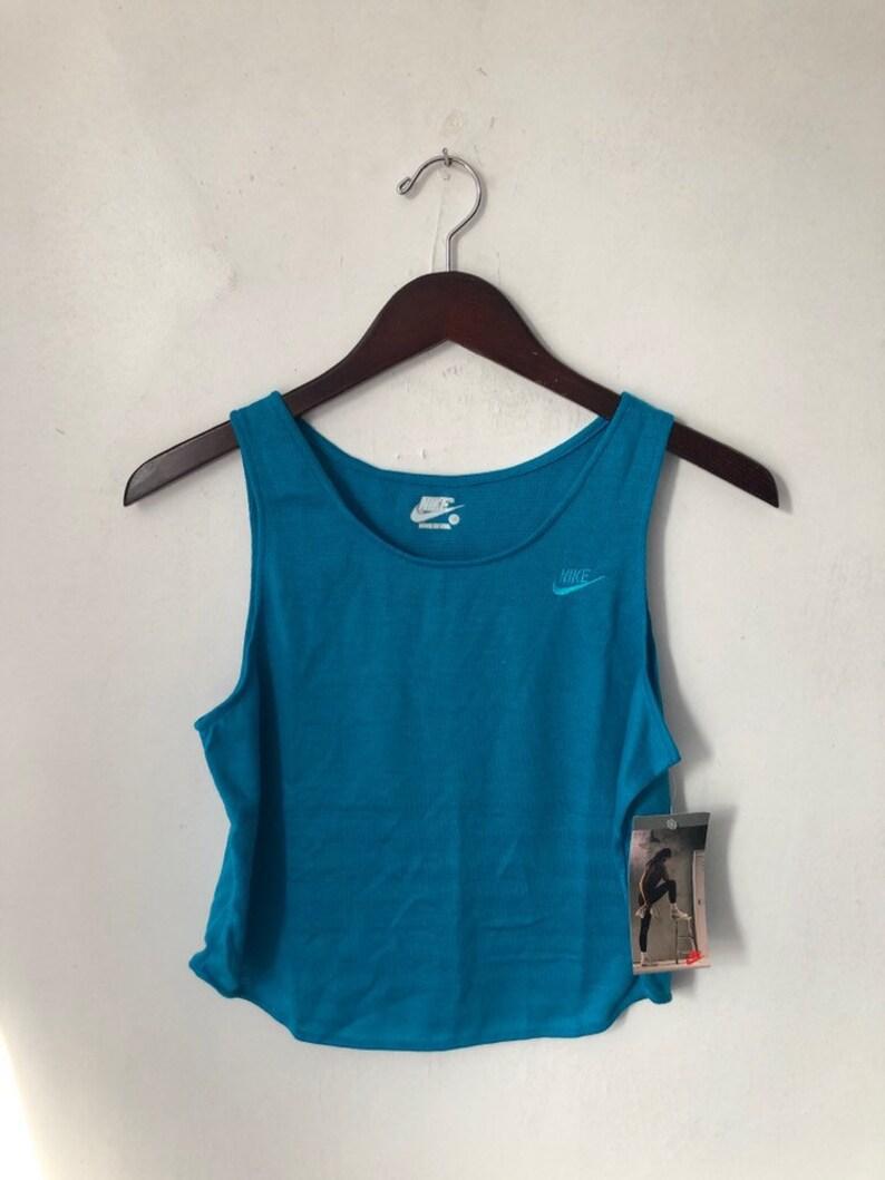 vintage nike grey tag crop tank top shirt women's size image 0