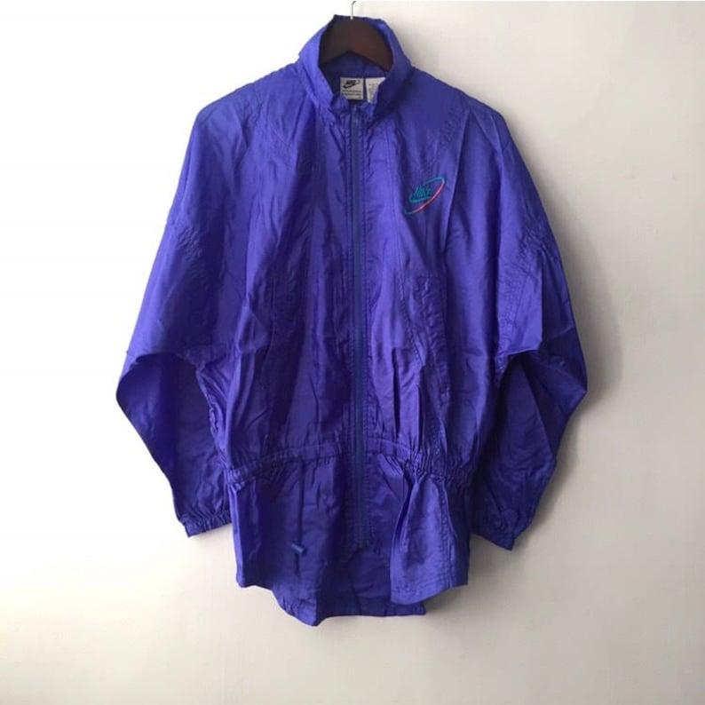 49da701d243b Vintage nike white tag windbreaker jacket womens size 14 large