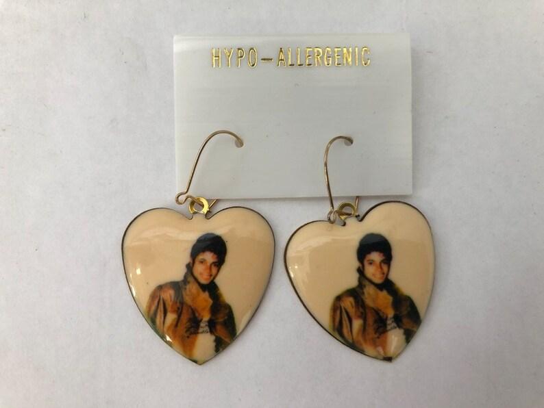 vintage michael jackson earrings deadstock NIP 80s image 0