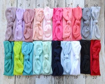 Pick 5 Knotted Head wrap, Boho Headband, Baby turban headband, Newborn headband, Infant headband, Baby turban, Headwrap, knit headband