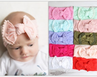 Hair Accessories Childrens Headbands In 5 Colours With 2 Pom Pom On Clothing, Shoes & Accessories