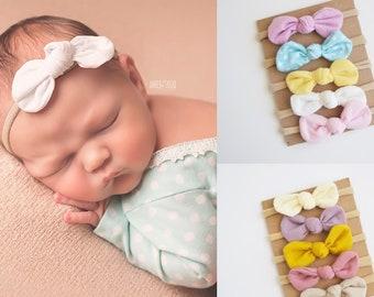 Headband Sets, One size fits all nylon headbands, baby shower headband set of 5, nylon baby headband, newborn headbands. HEADBAND SET KB