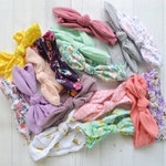 Headwrap grab bag of 6, baby headband, knot bow head wrap, knit head wrap