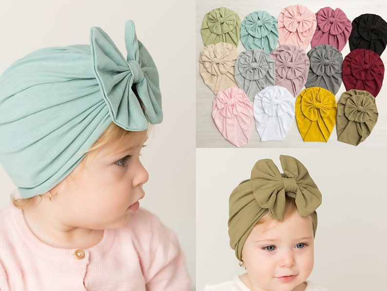 Baby Turban Messy bow Stretchy Hat Baby Turban Hat Infant  d6290ac6eb2
