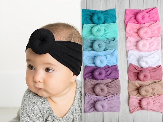 neues sehr bekannt sehr bequem Nylon Baby Kopftuch, Knoten Nylon Turban, Runde Knoten Kopf wickeln,  Stretch Nylon Stirnbänder, breite Nylon Stirnbänder, Baby Stirnbänder, -  ROUND ...