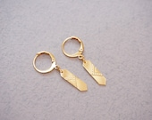 MINI LOUVRE earrings, gold plated french jewelry