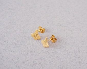 studs flower tulip earrings gold plated - MINI REINE