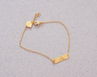 curb bracelet goldplated french jewelry - MINI LOUVRE