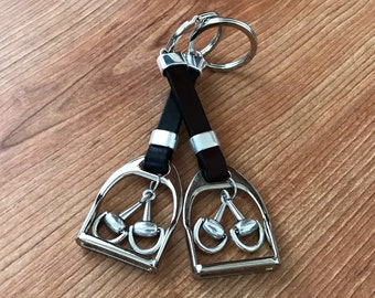 Stirrup key ring Gift for horse lover equestrian gift
